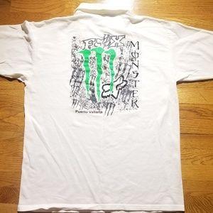 Vintage Fox Racing Monster Energy Polo Shirt
